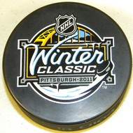 2011 Winter Classic NHL Hockey Puck Hosted By Pittsburgh Penguins & Heinz Field