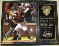 Buster Posey San Francisco Giants 2010 World Series Champions 12x15 Plaque