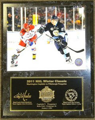 Alexander Ovechkin Capitals & Sidney Crosby Penguins 2011 NHL Winter Classic 12x15 Plaque