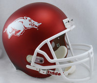 Arkansas Razorbacks RED MATTE Riddell NCAA Collegiate Deluxe Replica Full Size Helmet