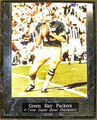 Bart Starr Green Bay Packers 4-Time Super Bowl Champions 10.5x13 Plaque