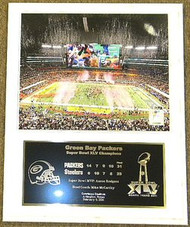 Aaron Rodgers Green Bay Packers Super Bowl XLV 45 Champions 12x15 Plaque - packerssbhpl11