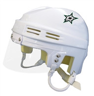 "Dallas Stars White ""D"" Logo NHL Player Mini Hockey Helmet"