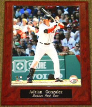 Adrian Gonzalez Boston Red Sox 10.5x13 Plaque