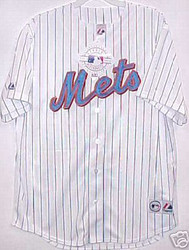 New York Mets White Majestic Home Blank XL Jersey