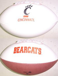 Cincinnati Bearcats Rawlings Jarden Sports Signature NCAA Full Size Fotoball Football - BLOWN UP with BOX & PEN