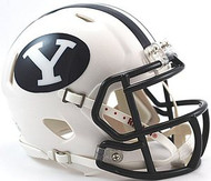 BYU Brigham Young Cougars WHITE Riddell NCAA Replica Revolution SPEED Mini Helmet