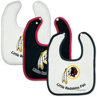 Washington Redskins NFL Football WinCraft Baby Bibs Set of 3