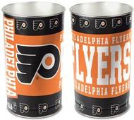 Philadelphia Flyers NHL Team Logo Wincraft Metal Tapered Wastebasket Trash Can (Orange & Black)