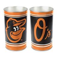 Baltimore Orioles MLB Team Logo Wincraft Metal Tapered Wastebasket Trash Can