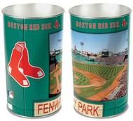 Boston Red Sox MLB Team Logo Wincraft Metal Tapered Wastebasket Trash Can