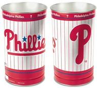 Philadelphia Phillies MLB Team Logo Wincraft Metal Tapered Wastebasket Trash Can