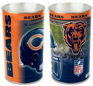 Chicago Bears NFL Team Logo Wincraft Metal Tapered Wastebasket Trash Can