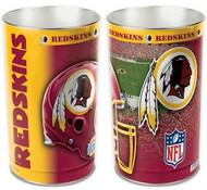 Washington Redskins NFL Team Logo Wincraft Metal Tapered Wastebasket Trash Can