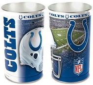 Indianapolis Colts NFL Team Logo Wincraft Metal Tapered Wastebasket Trash Can