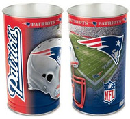 New England Patriots NFL Team Logo Wincraft Metal Tapered Wastebasket Trash Can