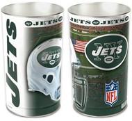 New York Jets NFL Team Logo Wincraft Metal Tapered Wastebasket Trash Can