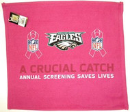 """Philadelphia Eagles WinCraft McArthur 17.5""""x16"""" A Crucial Catch Breast Cancer Awareness Pink Towel"""