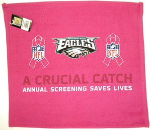 Philadelphia Eagles WinCraft Pink Logo 6'' x 6'' Color Decal