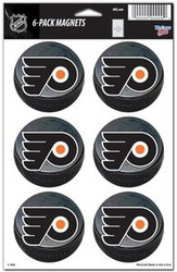 Philadelphia Flyers NHL Team Logo Wincraft Magnet 6-Pack