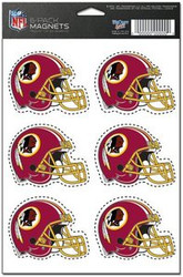 Washington Redskins NFL Team Logo Wincraft Magnet 6-Pack