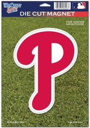 "Philadelphia Phillies MLB Team Wincraft Sports 6.25"" x 9"" Die Cut Logo Magnet"