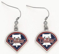Philadelphia Phillies Wincraft Sports Hanging MLB Team Liberty Bell Logo Earrings
