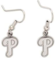 "Philadelphia Phillies Wincraft Sports Hanging MLB Team ""P"" Logo Earrings"