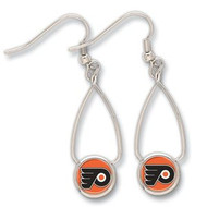 Philadelphia Flyers Wincraft Sports Hanging NHL Team Logo French Loop Earrings
