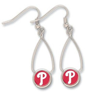 Philadelphia Phillies Wincraft Sports Hanging MLB Team Logo French Loop Earrings