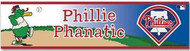 "Philadephia Phillies Phillie Phanatic MLB Team Logo Wincraft 3"" x 12"" Bumper Sticker Decal Strip"