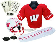 Wisconsin Badgers Franklin Deluxe Youth / Kids Football Uniform Set - Size Medium