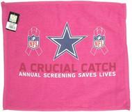 "Dallas Cowboys WinCraft McArthur 17.5""x16"" A Crucial Catch Breast Cancer Awareness Pink Towel"