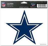 "Dallas Cowboys NFL Team Logo Wincraft 5"" x 6"" Full Color Ultra Decal Cling"