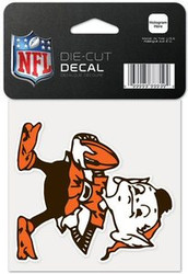 """Cleveland Browns NFL Team Logo Wincraft 4"""" x 4"""" Die Cut Full Color Decal"""