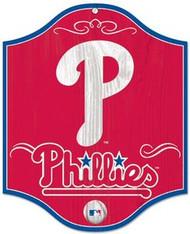 "Philadelphia Phillies MLB Team Logo Wincraft 11""x13"" Hardboard Wood Sign"