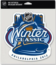 "2012 NHL Winter Classic Philadelphia NHL Team Logo Wincraft 8"" x 8"" Die Cut Full Color Decal"