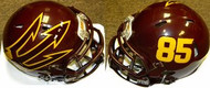 Arizona State Sun Devils #85 Maroon Big Fork Riddell NCAA Revolution Speed Mini Helmet