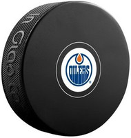 Edmonton Oilers NHL Team Logo Autograph Model Hockey Puck - Current Logo