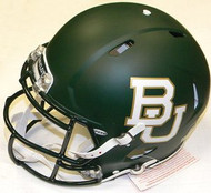 "Baylor Bears ""Matte Green"" Riddell NCAA Authentic Revolution SPEED Pro Line Full Size Helmet"