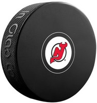 New Jersey Devils NHL Team Logo Autograph Model Hockey Puck - Current Logo