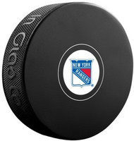 New York Rangers NHL Team Logo Autograph Model Hockey Puck - Current Logo