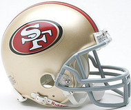 San Francisco 49ers Riddell NFL Replica Mini Helmet - Case of 24 Helmets