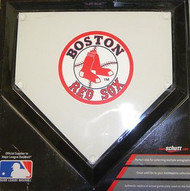 "Boston Red Sox Schutt MLB Baseball Team Logo 10""x10"" Mini Home Plate"