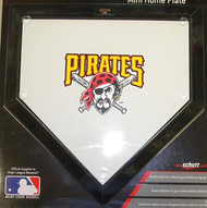 "Pittsburgh Pirates Schutt MLB Baseball Team Logo 10""x10"" Mini Home Plate"