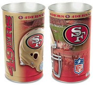 San Francisco 49ers NFL Team Logo Wincraft Metal Tapered Wastebasket Trash Can