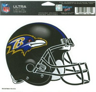 "Baltimore Ravens NFL Team Logo Wincraft 5"" x 6"" Full Color Ultra Decal Cling"