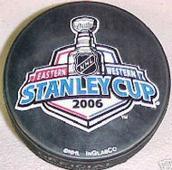 2006 NHL Stanley Cup Logo Hockey Puck Carolina Hurricanes vs. Edmonton Oilers