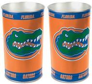 Florida Gators NCAA Team Logo Wincraft Metal Tapered Wastebasket Trash Can