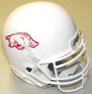 Arkansas Razorbacks WHITE Schutt NCAA College Football Authentic Team Mini Helmet